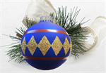 Blue Patchwork inspired ornament